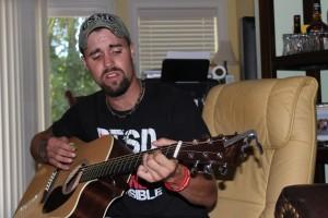 Dan on guitar